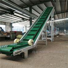DY500大坡度裙邊式輸送機,加格擋花生菜籽上料機