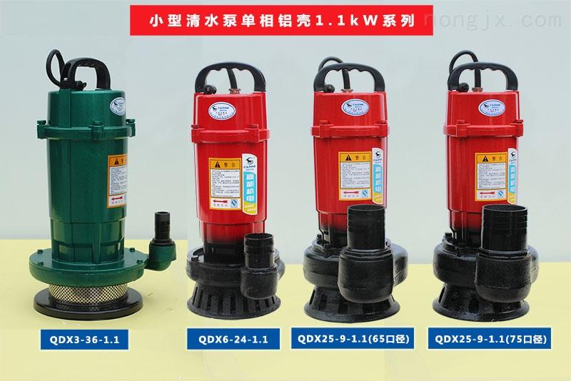 小型清水泵单相铝壳1.1kW系列
